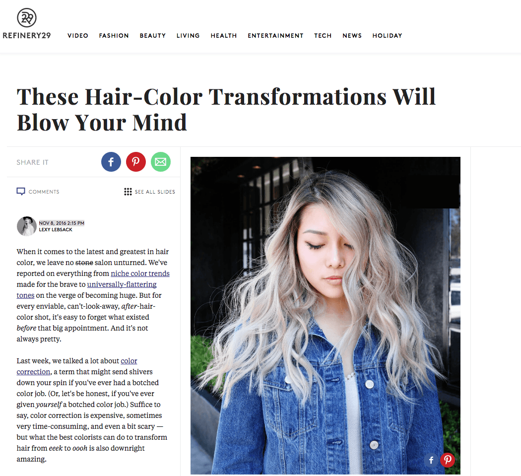 These Hair Color Transformations Will Blow Your Mind Mche Salon